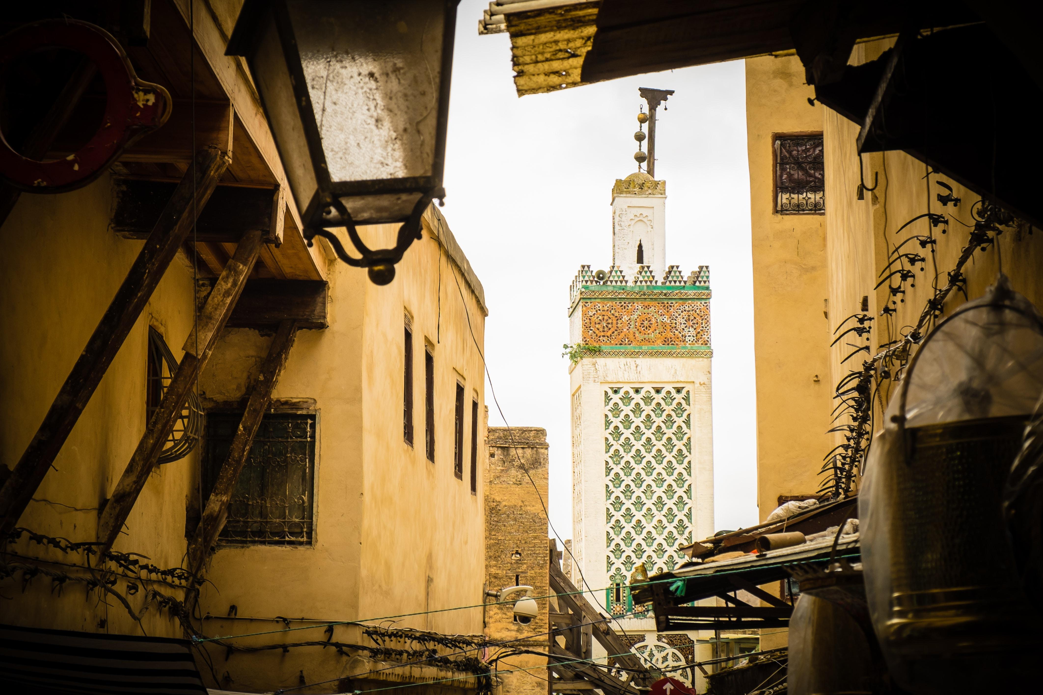 Genevieve Hathaway_Morocco_Fez_Medina_minaret