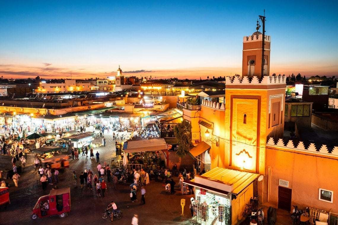 2018_Morocco_Marrakech_Djemaa el Fna sunset-1 - Copy