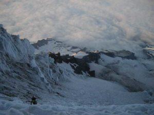 Climbing the Kautz Glacier. Mt. Rainier.