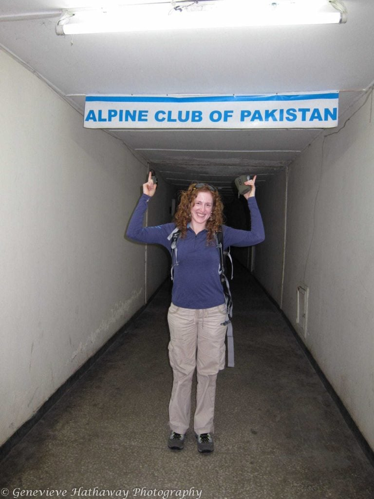 Visiting the Alpine Club of Pakistan's offices. Photo: Genevieve Hathaway Photography.