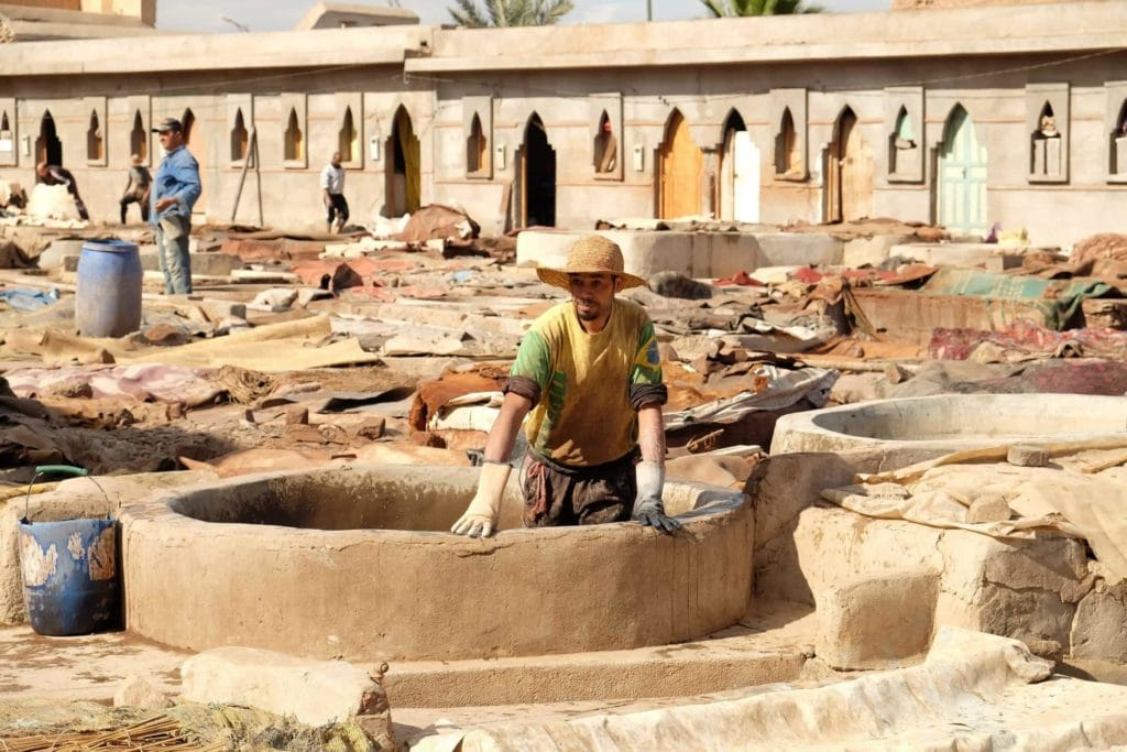 Marrakech's tanneries.