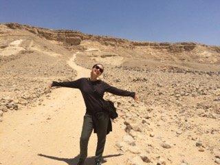 Exploring at Amarna. Photo: Joanie Maro.