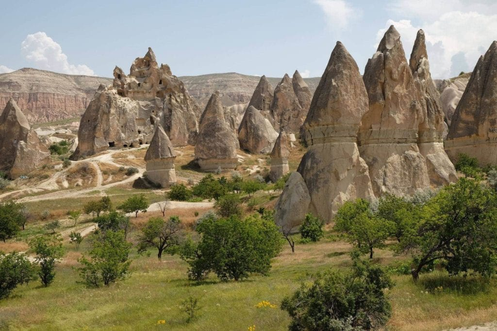 Hiking Red and Rose Valley. Cappadocia.