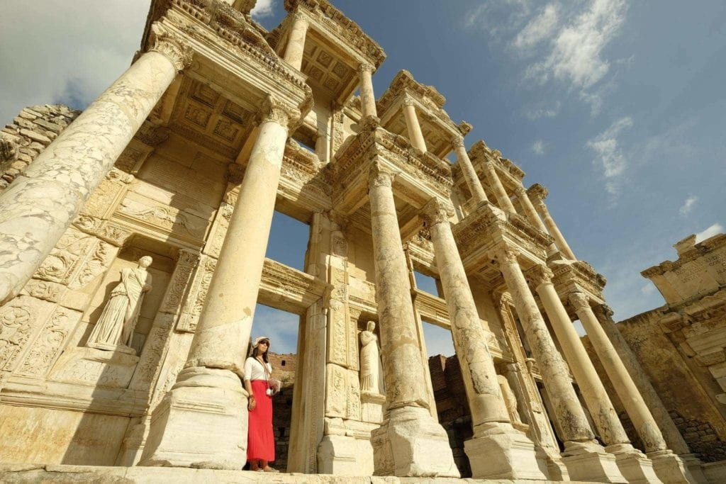 Celsus' Library, one of the highlights of a visit to Ephesus. The Library has one of the largest collections of manuscripts in the world.