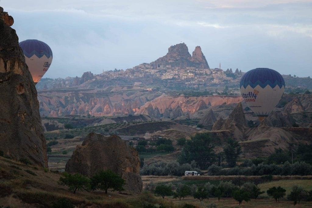 Sunrise balloon ride over Cappadocia.