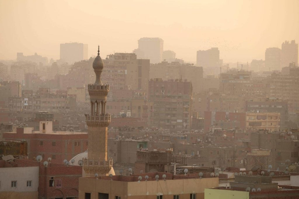 Skyline of Old Cairo.