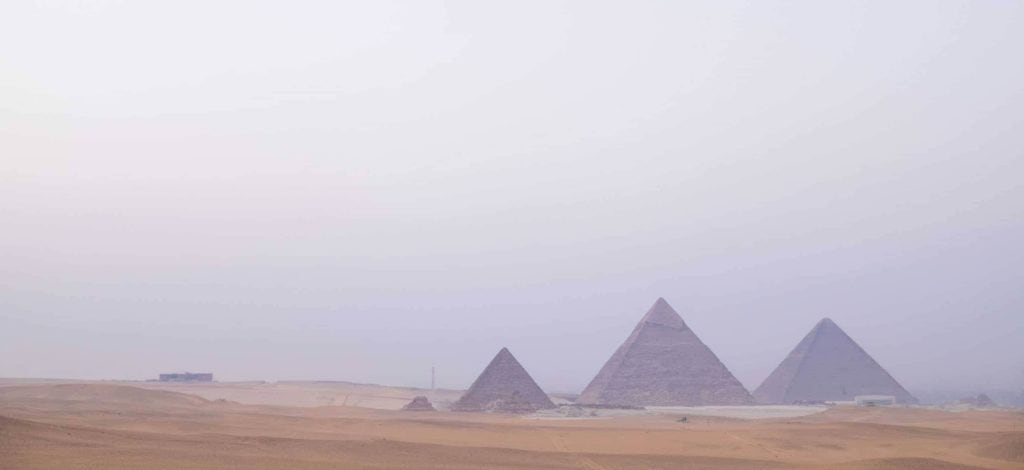 Genevieve Hathaway_Giza Pyramids and desert_at sunset