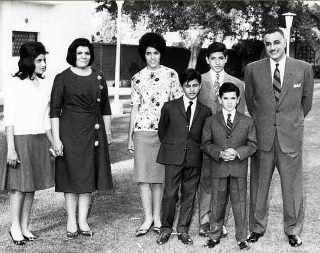 Nasser and his family setting dress trends across the country. Photo: Wikipedia