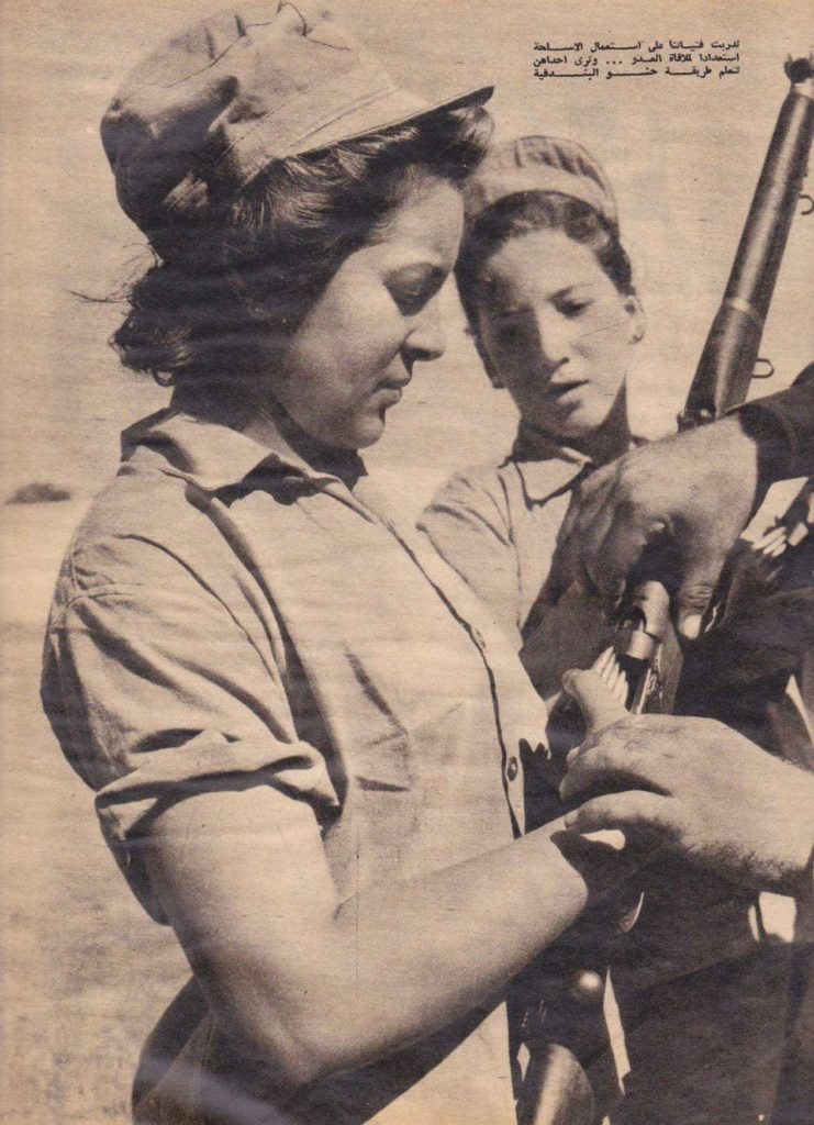 In 1956, Egyptian women volunteer for the military. Photo: Egyptian Streets.