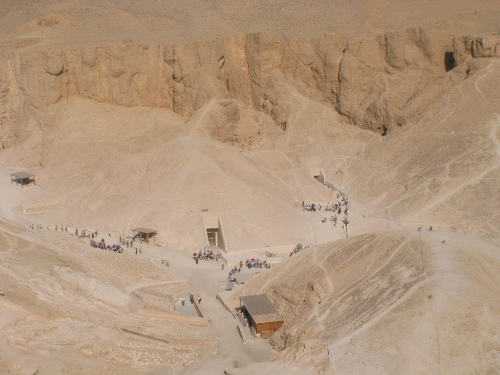 Overlooking the Valley of the Kings. Photo: Wikipedia.