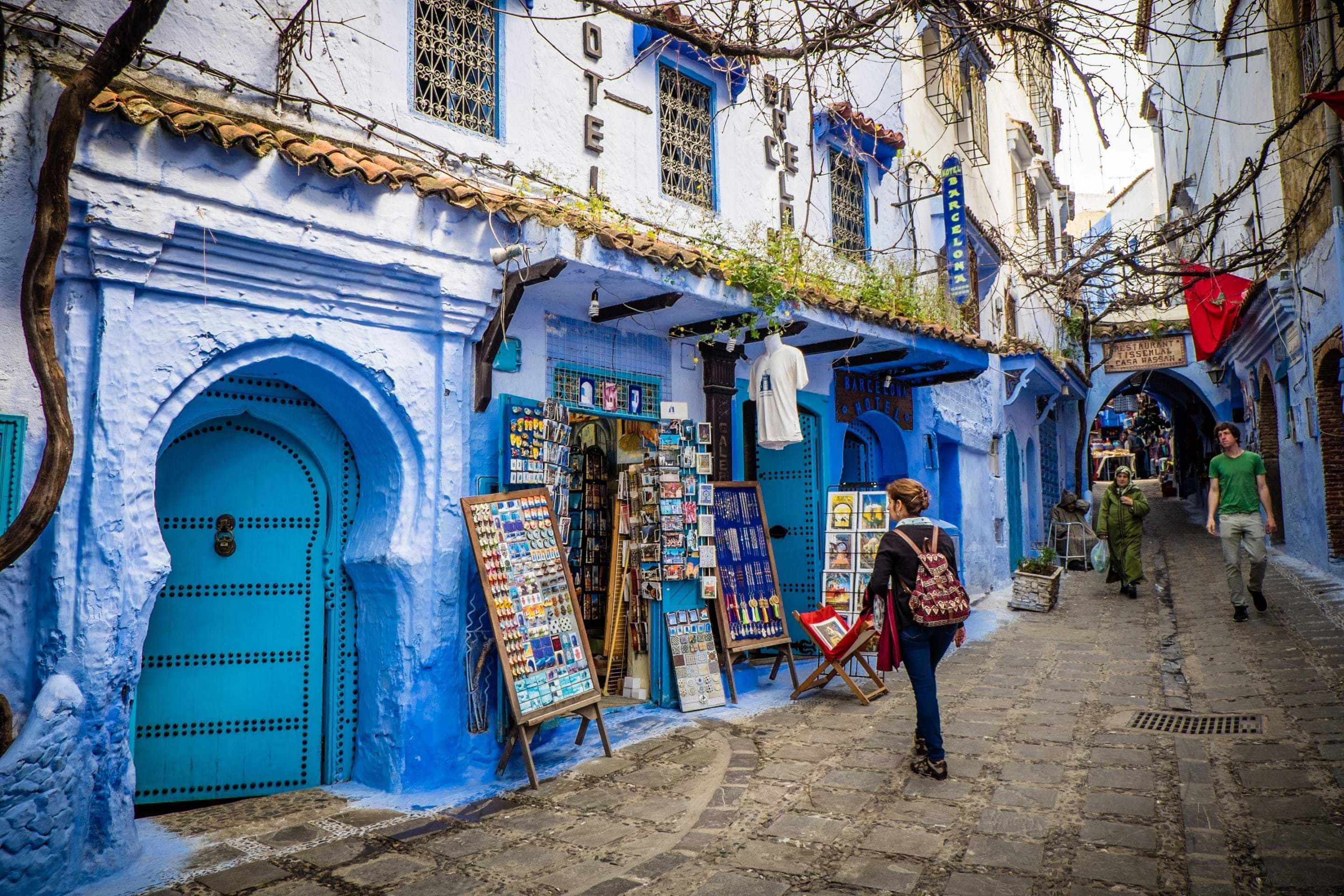 Photo Essay Chefchaouen Moroccos Blue City Archaeoadventures - Old town morocco entirely blue