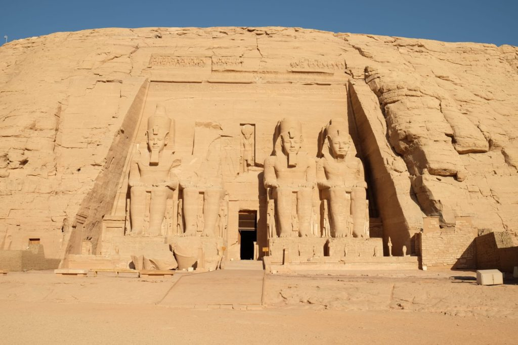 A quiet moment at Abu Simbel. Photo: Genevieve Hathaway.