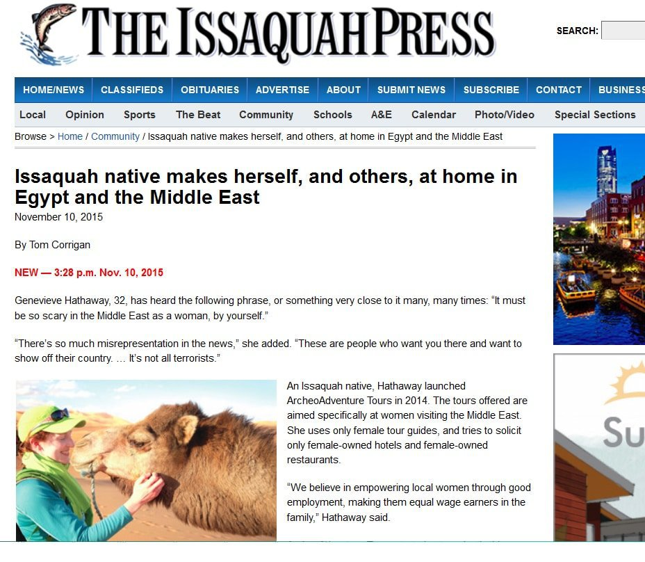 Issaquah press article