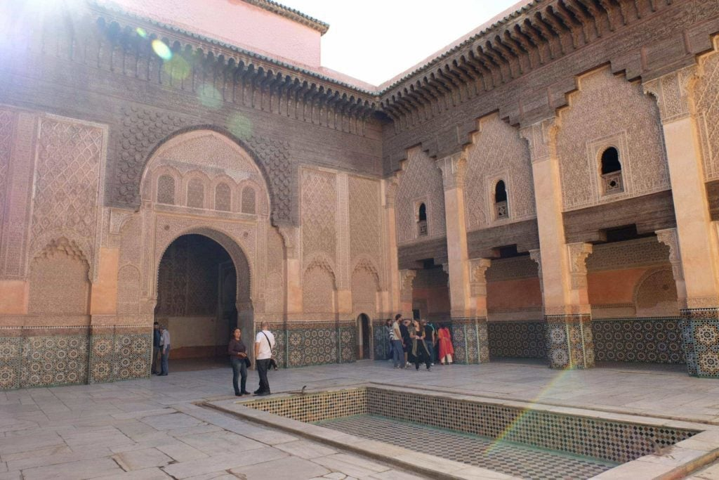 Ben Youssef Madrasa. Marrakech, Morocco. ArchaeoAdventures Tours.