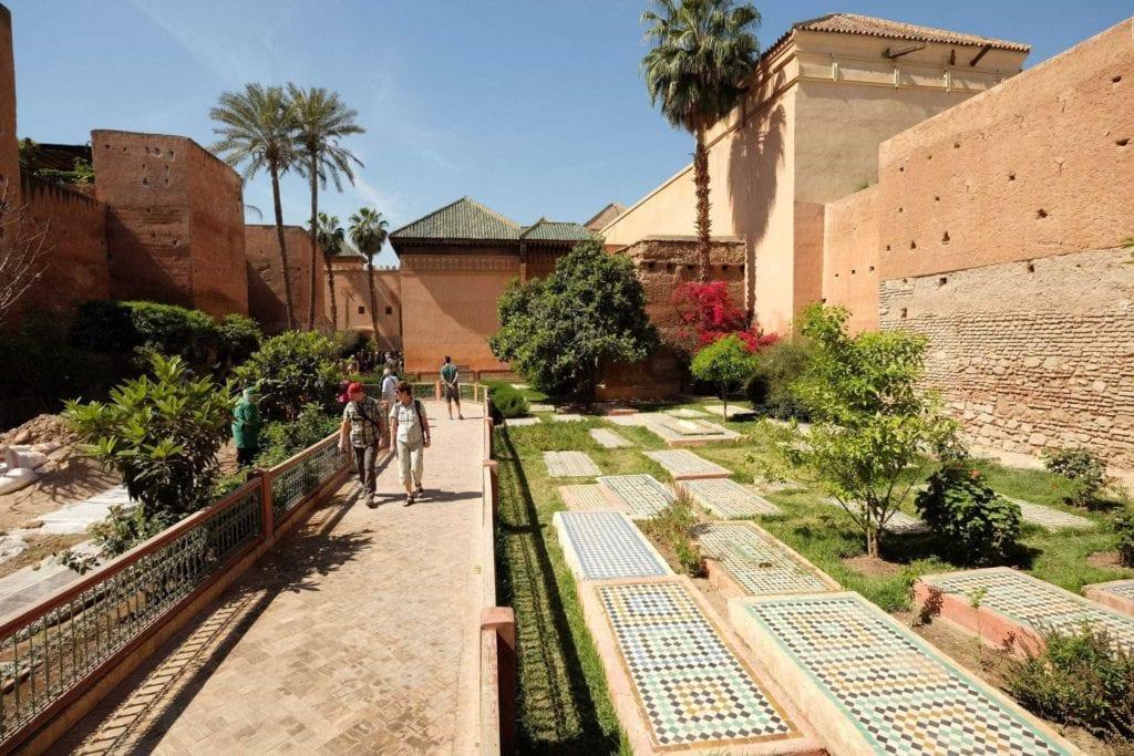 Saadian tombs. Marrakech, Morocco. ArchaeoAdventures Tours.