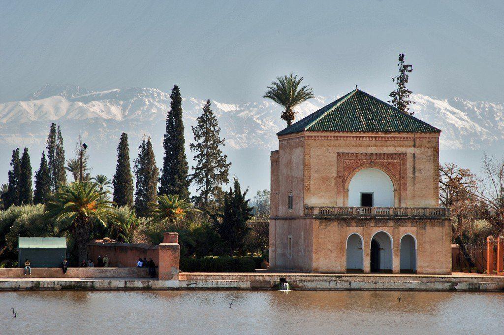 Menara gardens. Marrakech, Morocco.
