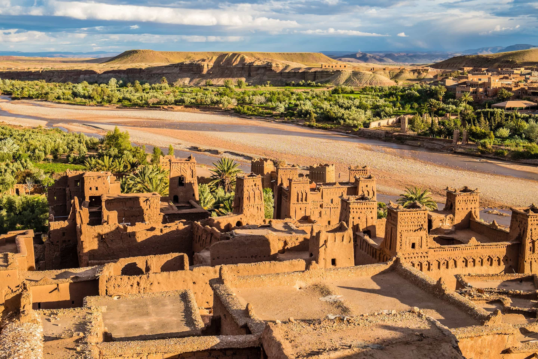 Ait Benhaddou Marrakech a town in Morocco sculptured from