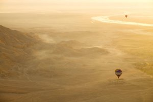 2015 Egypt Hot Air Balloon over Luxor